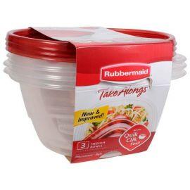 Rubbermaid® Takealongs Set of 3 Food Tupperwares - 1.4L