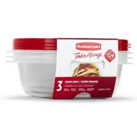 Rubbermaid® Takealongs Set of 3 Food Tupperwares - 1.18L