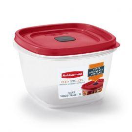 حافظة طعام سعة 1.6 لتر من Rubbermaid® EasyFindLids