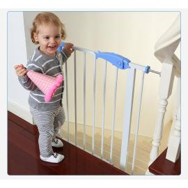 بوابة أمان للأطفال من Baby Safe - أبيض وأزرق
