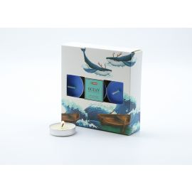 ARMN Relaxing Set of 18 Scented Tea Light Candles - Ocean
