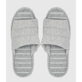 ARMN Fluffy Gray Indoor Slippers - Size 42-43
