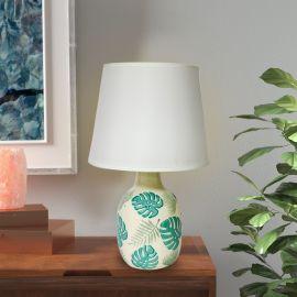 ARMN Gravity Table Lamp - Beige & Green