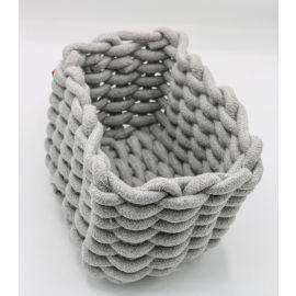 ARMN Cara Knite Rope Towel Basket - Gray