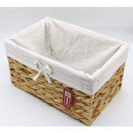 ARMN Willow Wicker Large Towel Basket - Beige & White