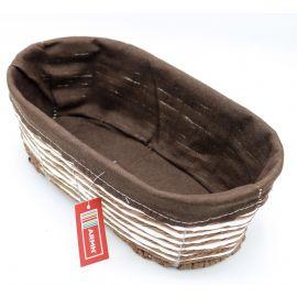 ARMN Kouboo Medium Oval Towel Basket - Coffee