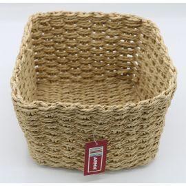 ARMN Chunky Crochet Large Square Towel Basket - Beige