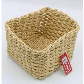 ARMN Chunky Crochet Medium Square Towel Basket - Beige