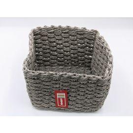 ARMN Chunky Crochet Large Square Towel Basket - Gray