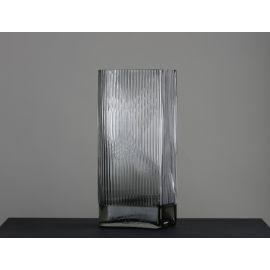 ARMN Sorbet Ribbed Vase - Transparent
