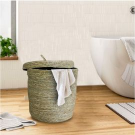 ARMN Nordal Large Round Laundry Basket - Beige