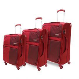 طقم من 3 حقائب سفر من ARMN Flexis - أحمر
