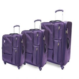 طقم من 3 حقائب سفر من ARMN Leverage - بنفسجي