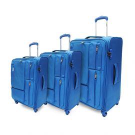 طقم من 3 حقائب سفر من ARMN Leverage - أزرق