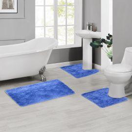 ARMN Colormate Acrylic 3-Piece Bath Rug Set - Blue