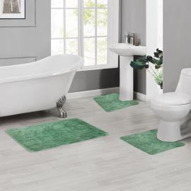 ARMN Colormate Acrylic 3-Piece Bath Rug Set - Light Green