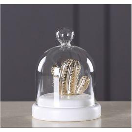 ARMN Allen Decorative Cactus - Gold & White