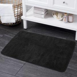 ARMN Plush Black Microfiber Bath Mat - 60 x 90 cm