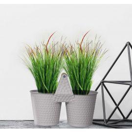 H&P 2-Flower Pot Set - White