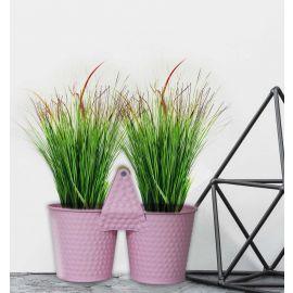 H&P 2-Flower Pot Set - Pink