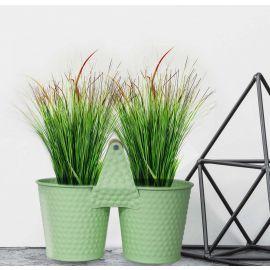 H&P 2-Flower Pot Set - Green