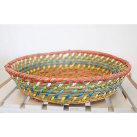 ARMN Java Large Bamboo Basket - Multicolored