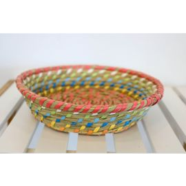 ARMN Java Small Bamboo Basket - Multicolored