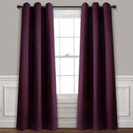 ARMN Eclipse 140 x 265 Single Curtain - Plum