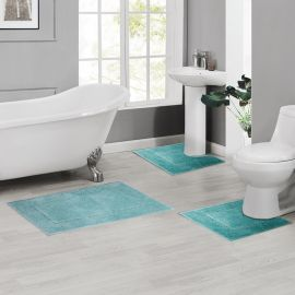 ARMN Colormate Acrylic 3-Piece Bath Rug Set - Green
