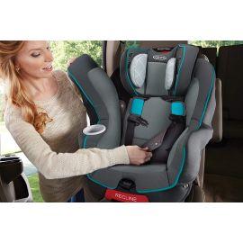كرسي سيارة من Graco My-Size 65 - رمادي وأزرق