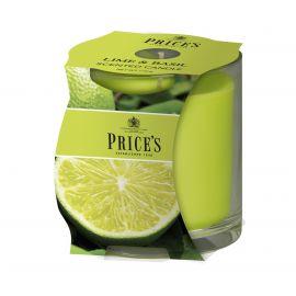 شمعة معطرة بكوب من Price's - الليمون والريحان