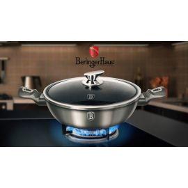 Berlinger Haus Metallic Carbon Shallow Pot with Lid - 28 cm