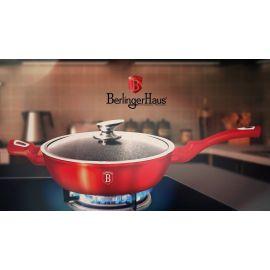 Berlinger Haus Metallic Burgundy Deep Frypan with Lid - 28 cm