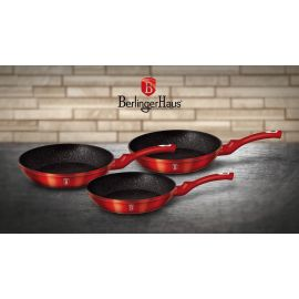 Berlinger Haus Metallic Burgundy 3-Piece Frypan Set