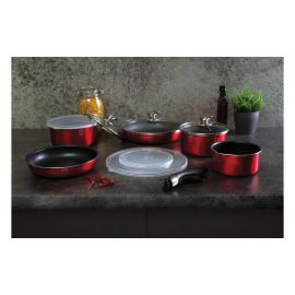 Berlinger Haus Metallic Burgundy 12-Piece Cookware Set
