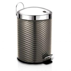 Berlinger Haus Metallic Carbon Pedal Waste Bin - 12L