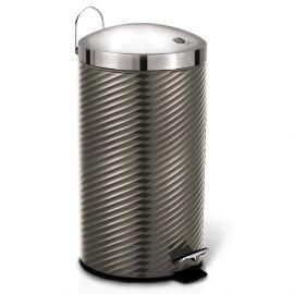 Berlinger Haus Metallic Carbon Pedal Waste Bin - 20L