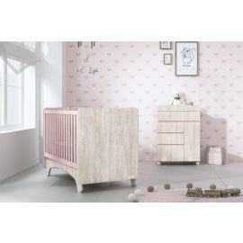 Trama Gala Crib - Pink & Beige