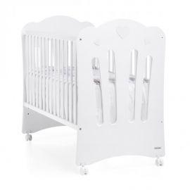 Trama Corazones Crib - White