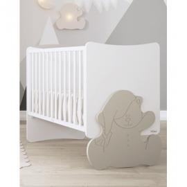 Trama Kuma Crib - White & Light Gray