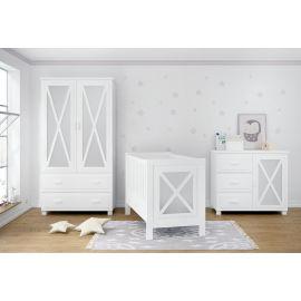 سرير بيبي من Trama Faro - أبيض