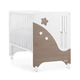 Trama Cielo Crib - White & Brown