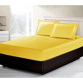 ARMN Vero 3-Piece Queen-size Fitted Sheet Set - Yellow