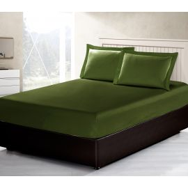 ARMN Vero 3-Piece Queen-size Fitted Sheet Set - Olive