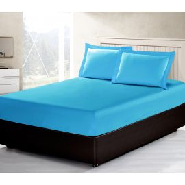 ARMN Vero 3-Piece Kingsize Fitted Sheet Set - Turquoise