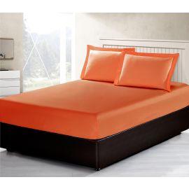 ARMN Vero 3-Piece Kingsize Fitted Sheet Set - Orange