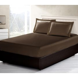 ARMN Vero 3-Piece Queen-size Fitted Sheet Set - Brown