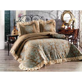 Golden Home Ottoman 4-Piece Kingsize Comforter Set - Blue