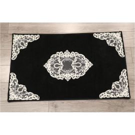 ARMN Maco Caprice Black Bath Rug - 50 x 80 cm