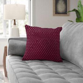 ARMN Prestige Embossed Cushion Cover - Plum